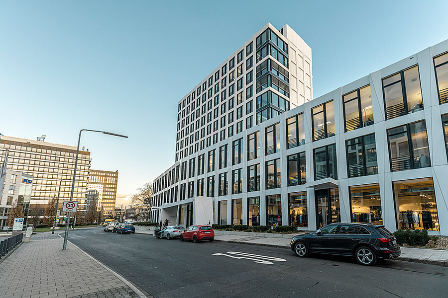 Außenansicht COLLECTION Business Center Düsseldorf Kaiserswerther Straße